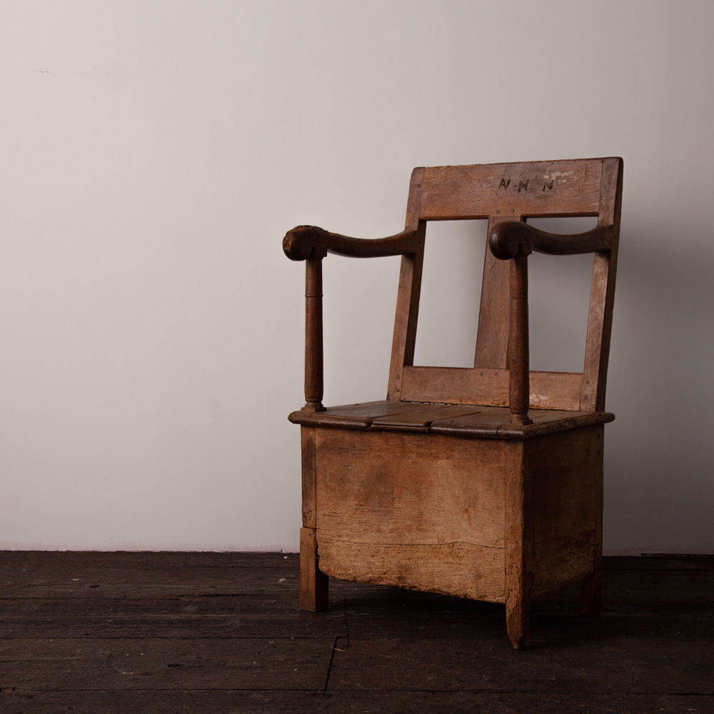 """Early 19th Arm Side Chair """"NNN"""""""