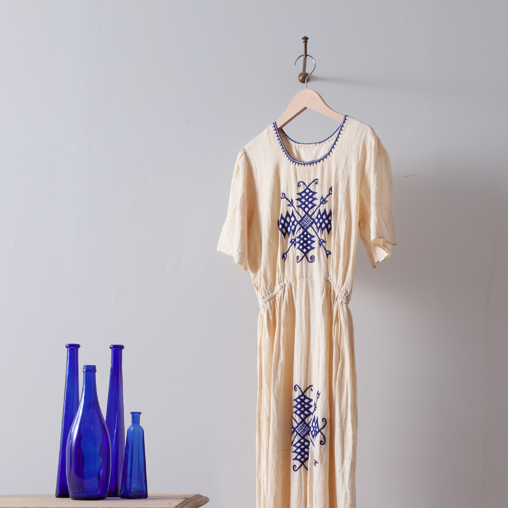 Hand Stitch Embroidered Long Dress