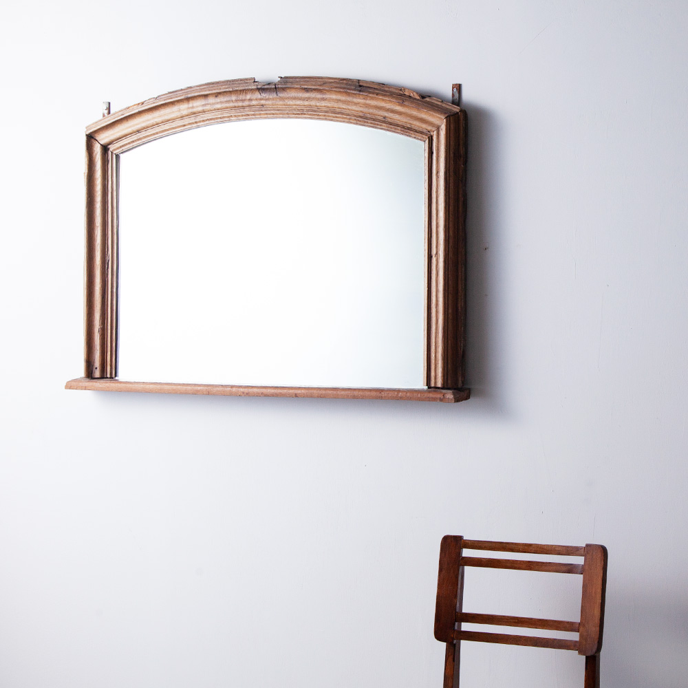 Early 19th Mirror with Oak Flame