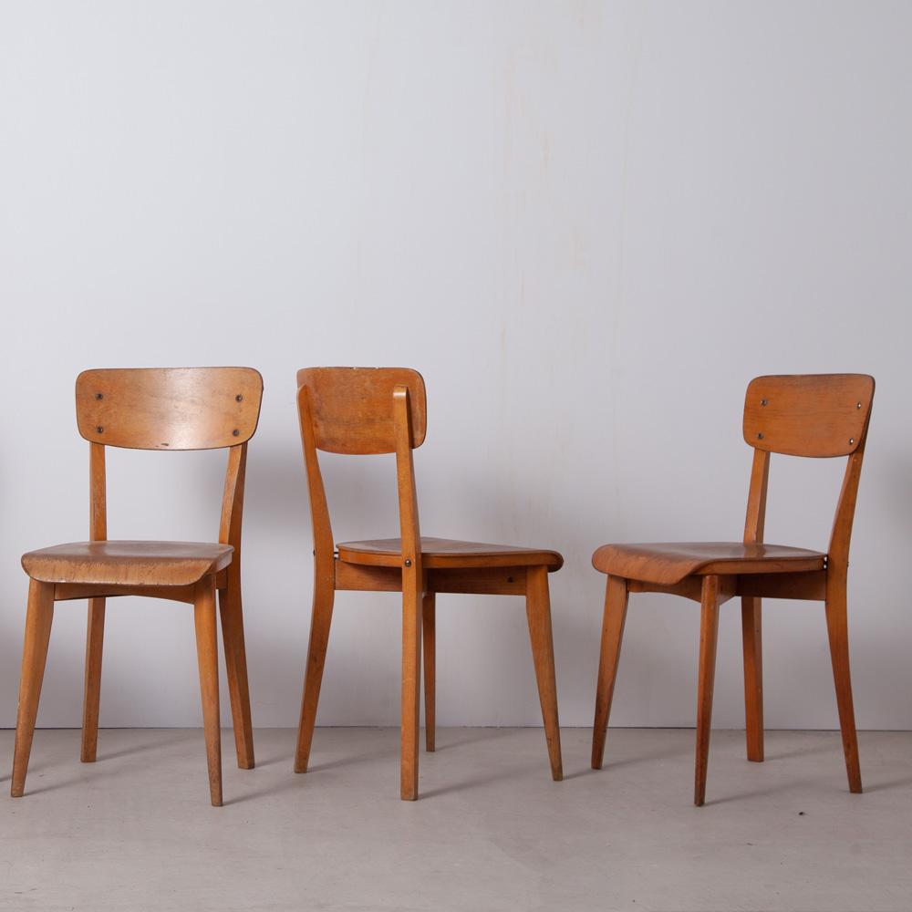 4 Vintage School Chair