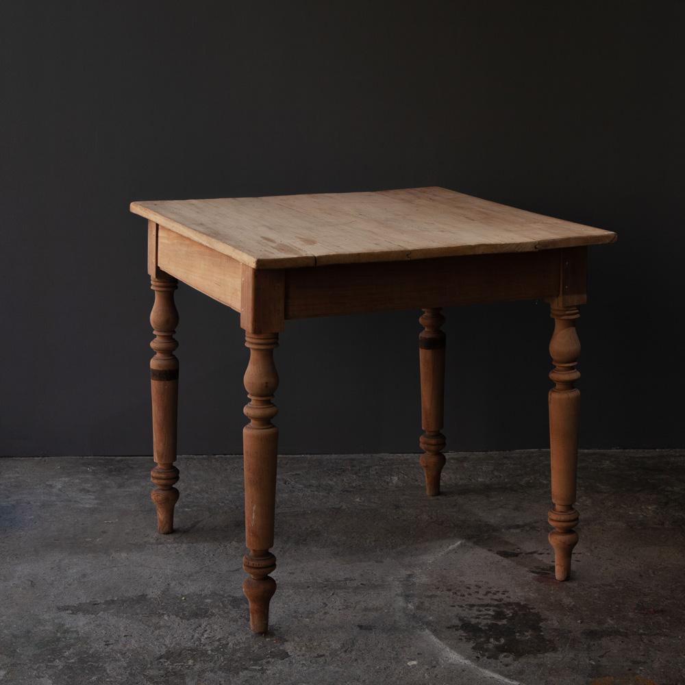 Antique Square Pine Table