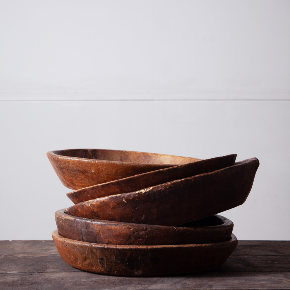 African Antique Woody Plate