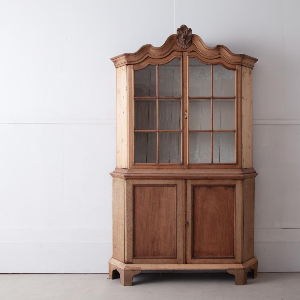 1900s Dutch Glass Cabinet