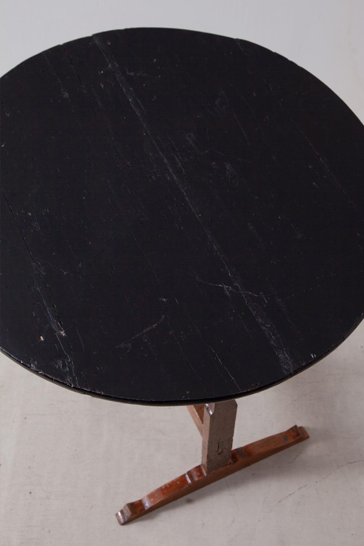 アンティークテーブル,アンティークロングテーブル,Antique,Vintage,アンティーク,ヴィンテージ,家具,雑貨,黒,テーブル,折りたたみ,丸テーブル