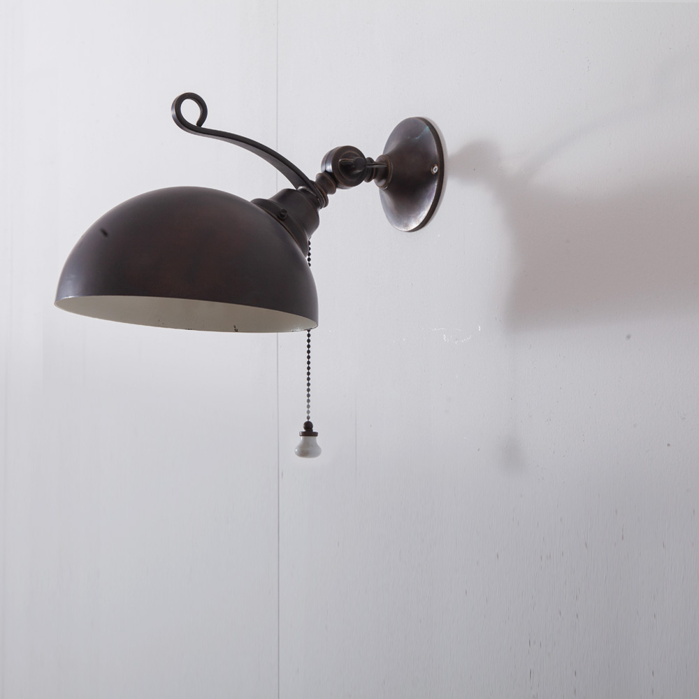Wall Lamp in Brass with Central Articulation