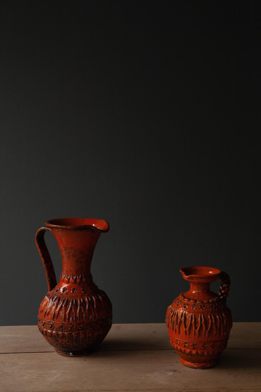 清澄白河,アンティークショップ,Antique,Vintage,アンティーク,ヴィンテージ,花瓶,オレンジ,ドイツ