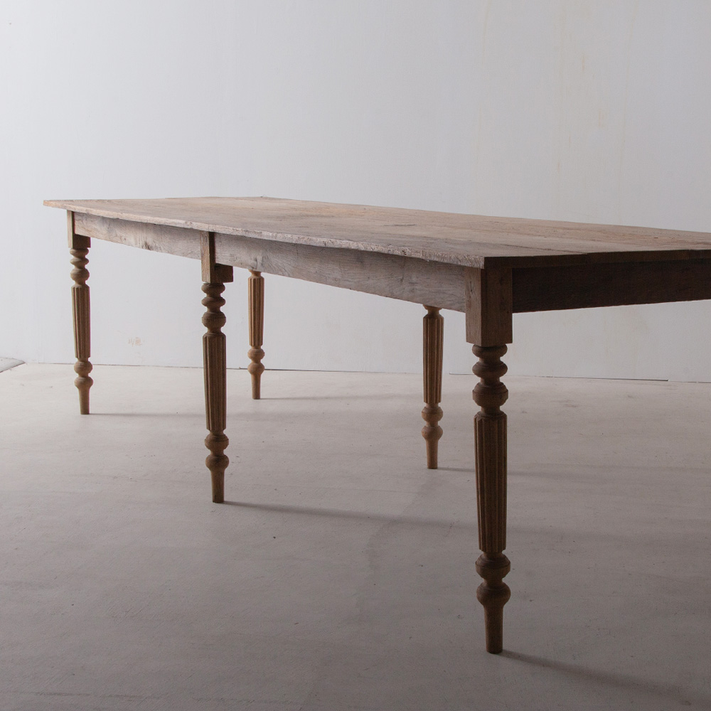 Oak Long Table with Decorative 6 Legs