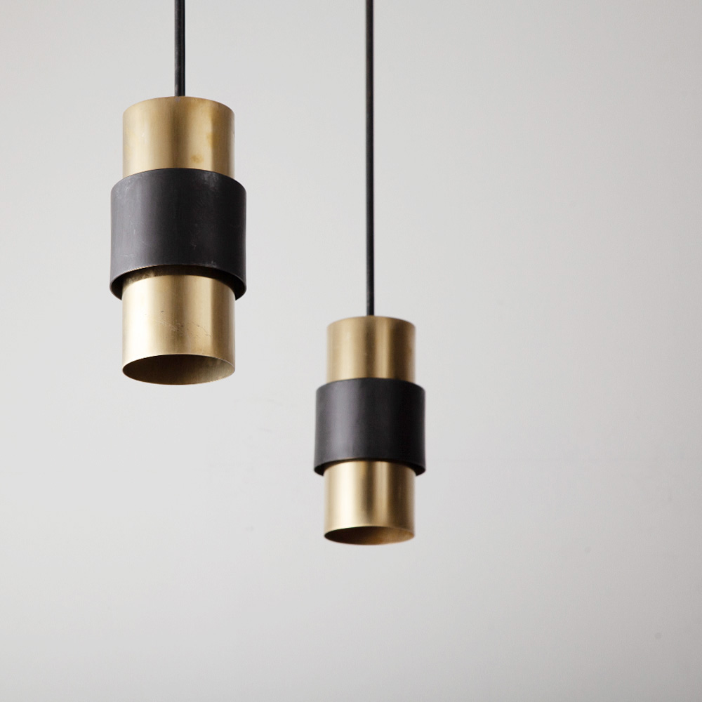 Pendant Light by Parscot in Black and Brass