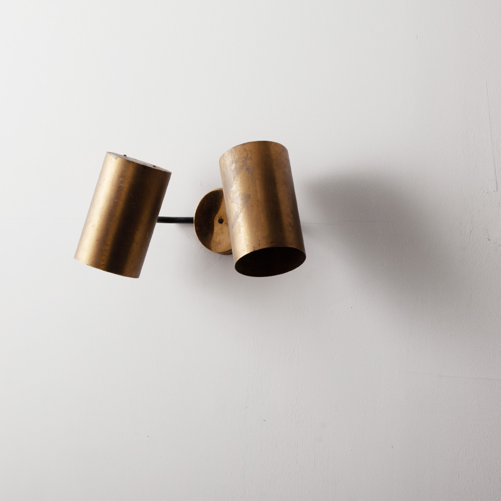 Adjustable Dual Wall Light by Parscot in Brass