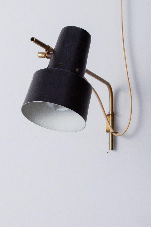 真鍮,ブラケットライト,照明,壁付,ライト,黒,黒シェード,アンティーク,ヴィンテージ,清澄白河