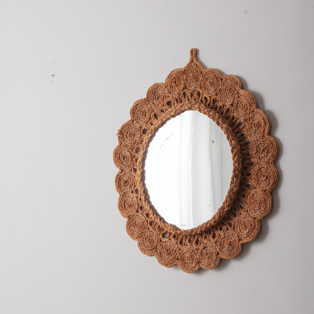 Vintage Decorative Rope Mirror