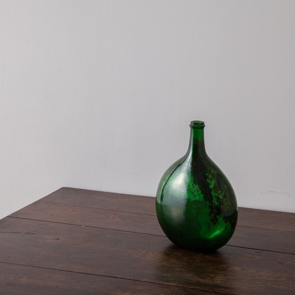 Antique Glass Bottle in Green