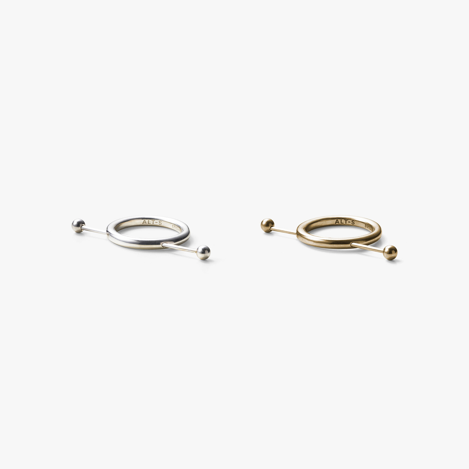 Long Stick Ring in Silver or Gold by ALT-S