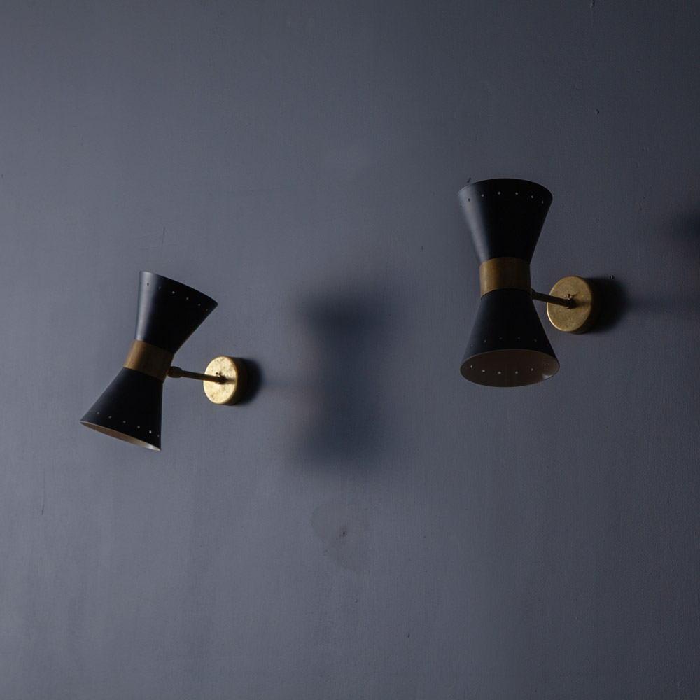 Adjustable Wall Light #02 in Brass and Black
