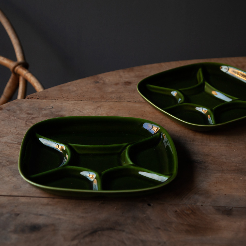 6 Partition Dish in Green for BOCH