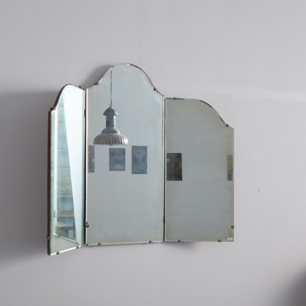 Antique Folding Mirror