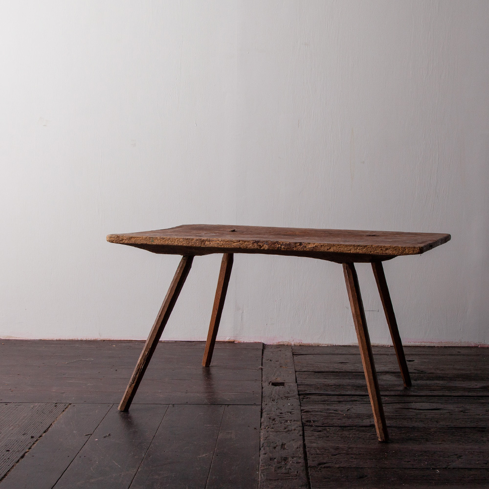 Hungarian Antique Primitive Woody Low Table