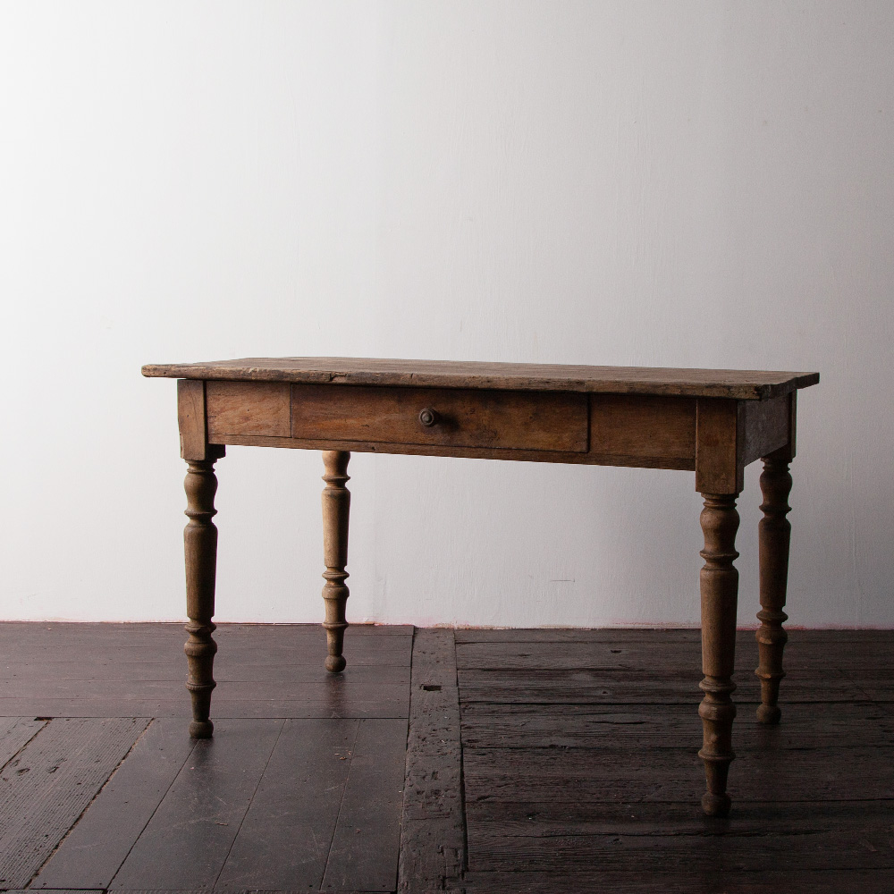 French Antique Table with a Drawer