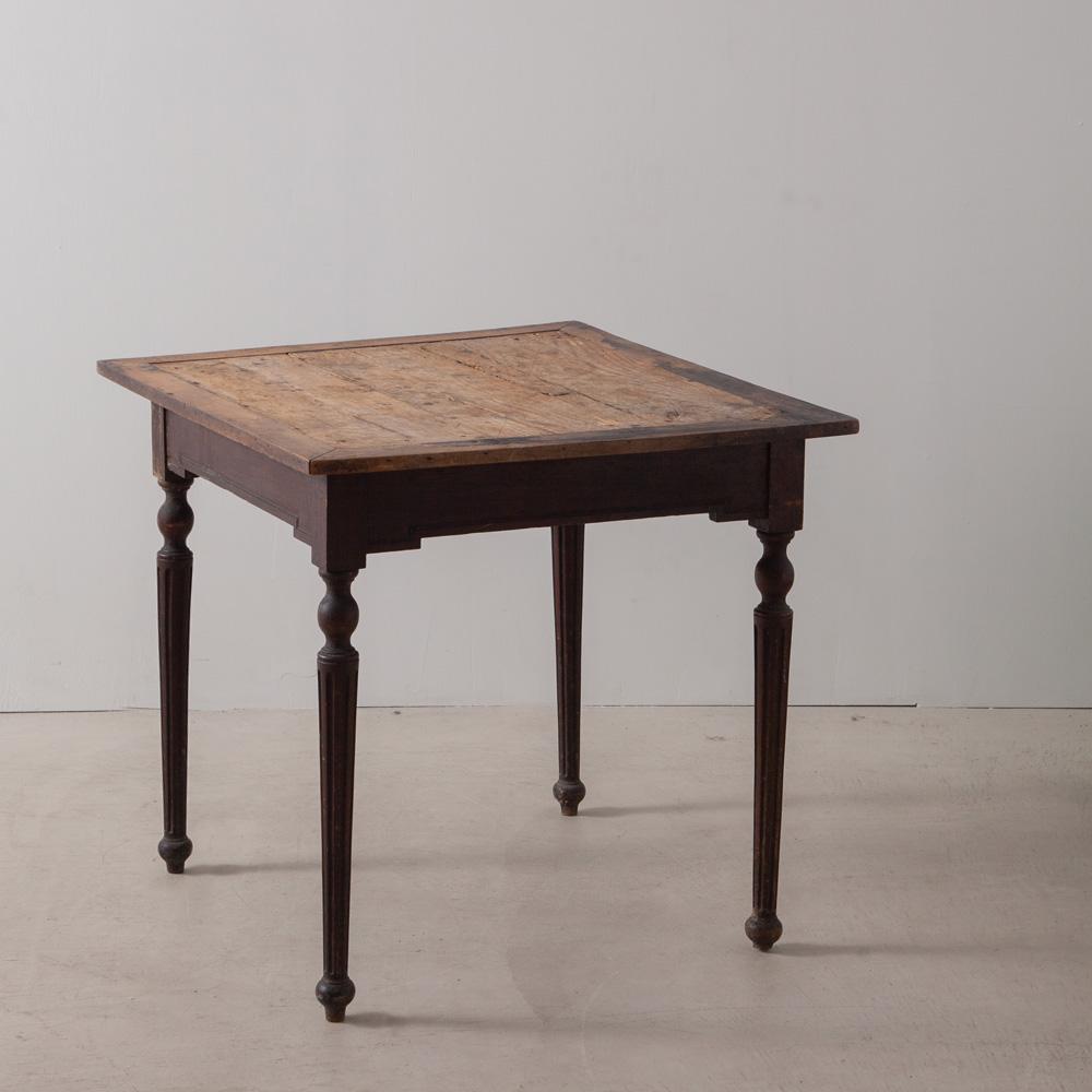 Antique Square Table with Decorative Legs