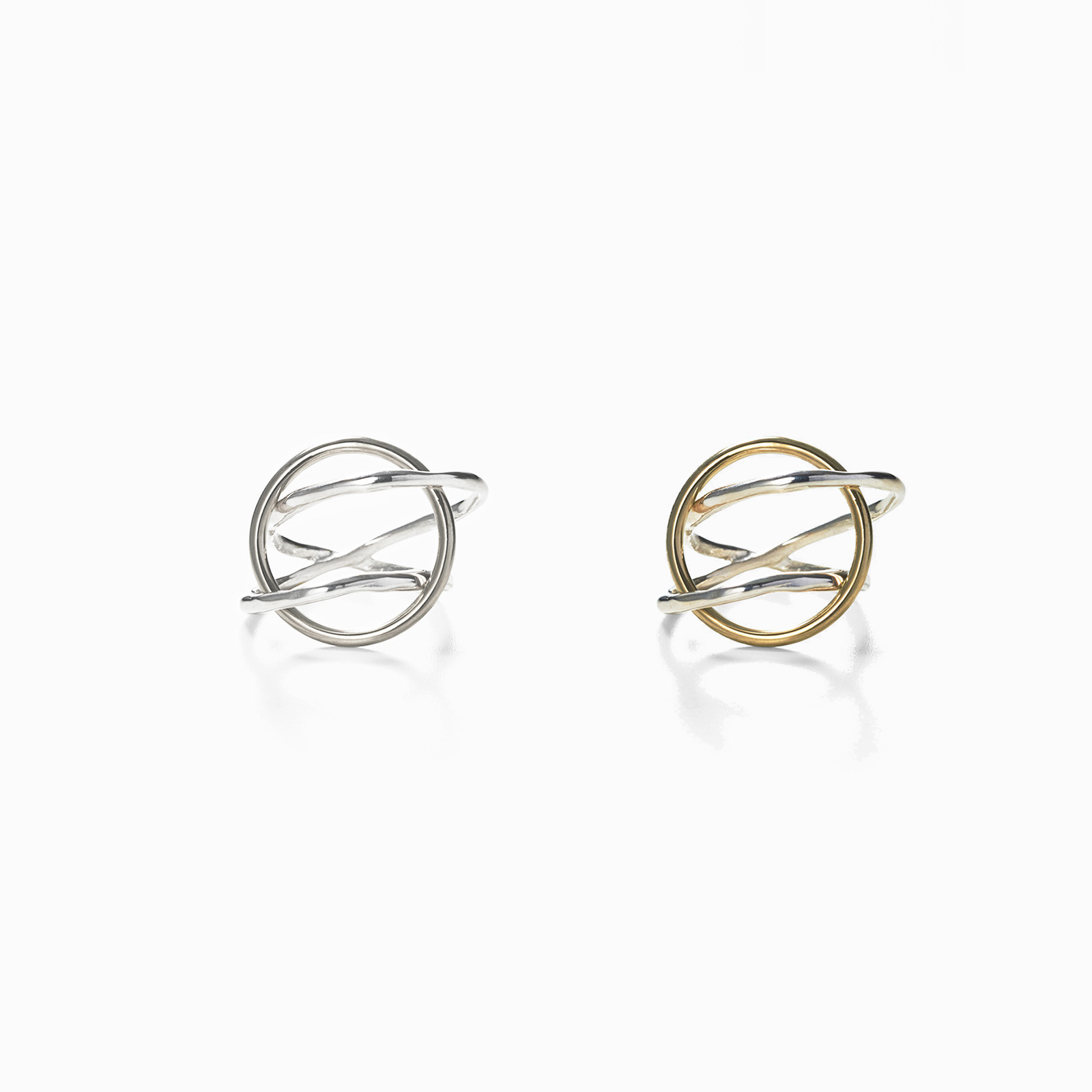 Three Circle Ring in Silver or Gold + Silver by ALT-S