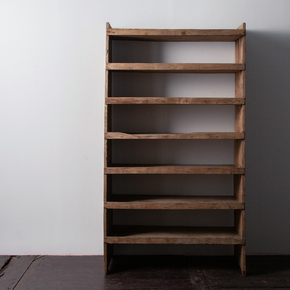 French Antique Work Oak Shelf