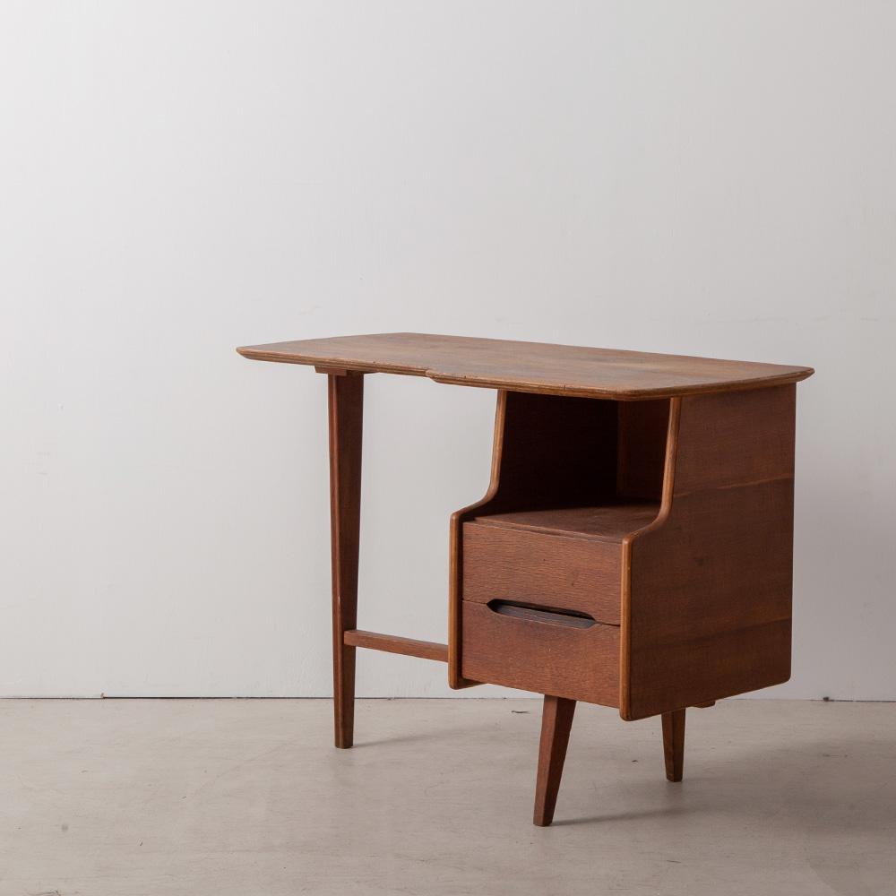 Freeform Tripod Desk in Solid Oak by JACQUES HAUVILLE