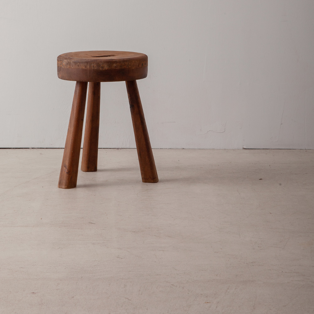 Antique Tripod Stool in Wood