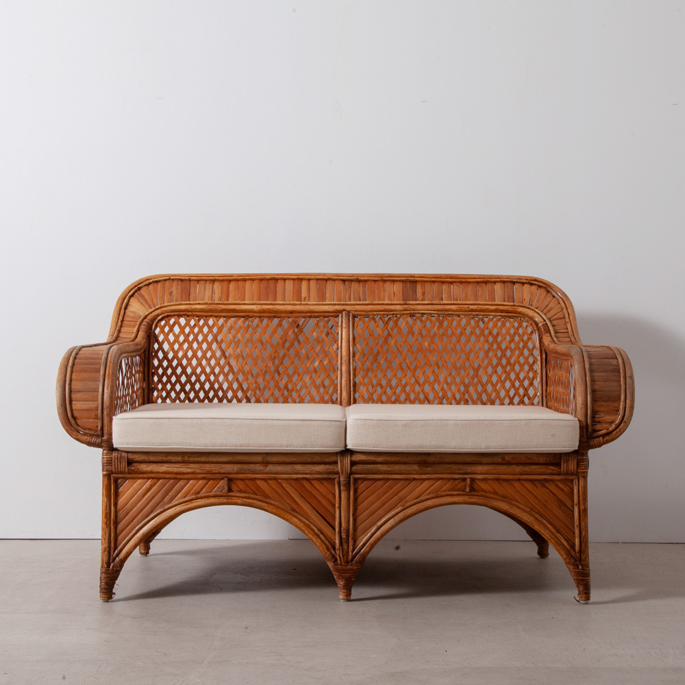 Vintage 2P Sofa in Bamboo