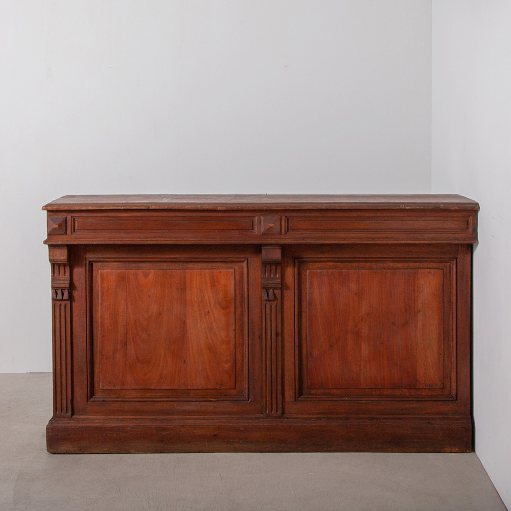 Antique Counter with Wall in Walnut