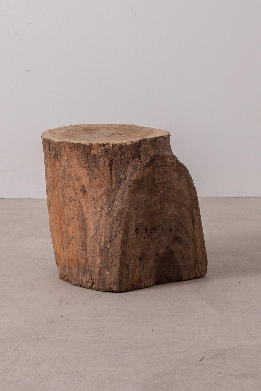 Primitive Log Solid Wood Stool