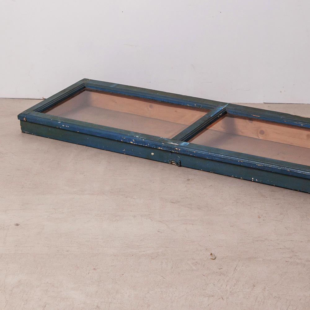 Showcase in Blue and Wood