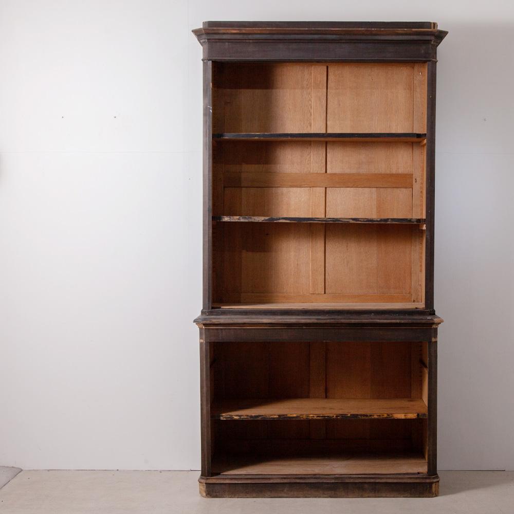 Huge Antique Shelf in Black and Oak