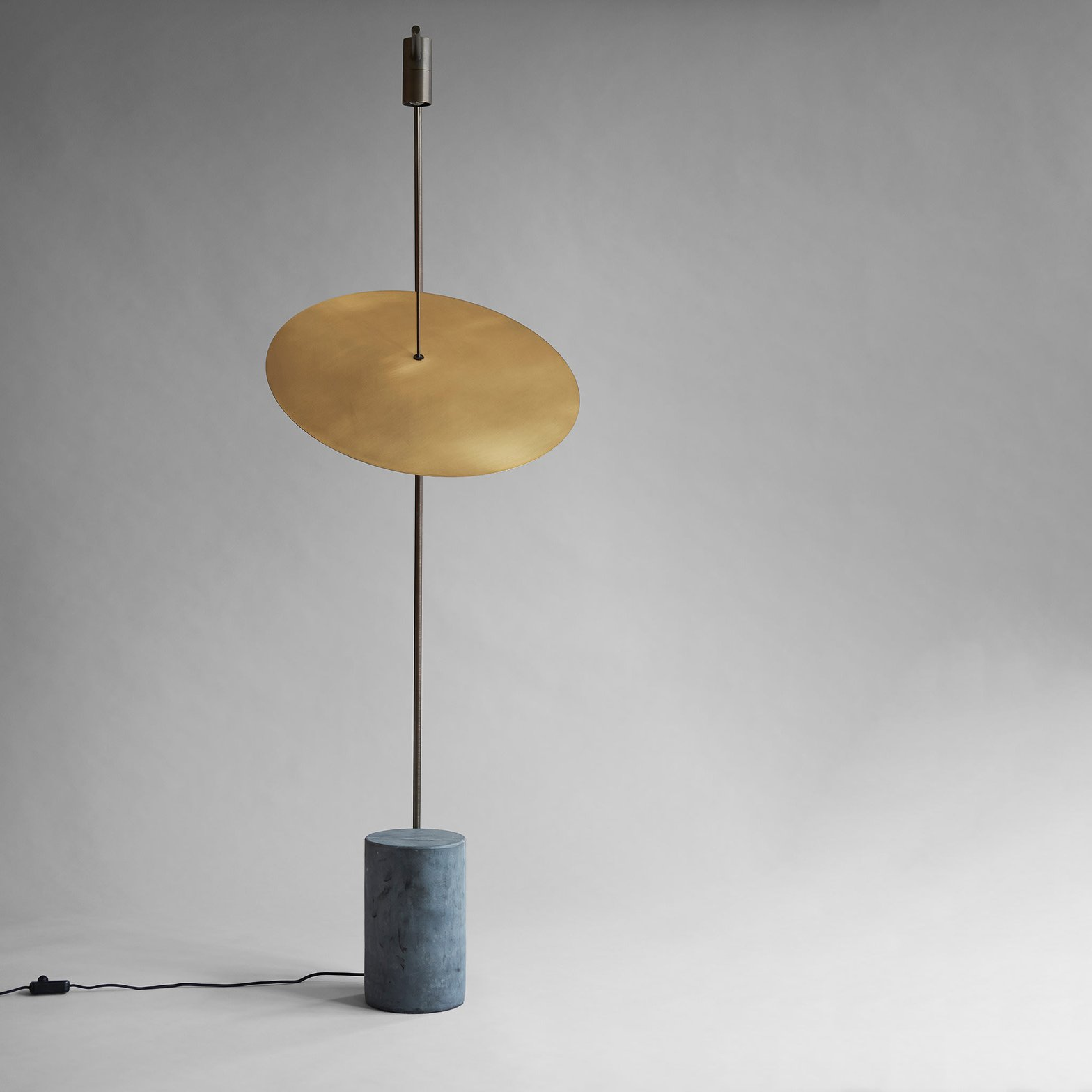 Floor Light in Brass and Marble