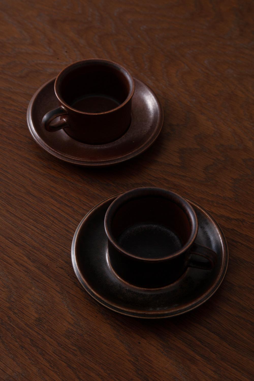 """Espresso Cup & Saucer Set """" Ruska """" for ARABIA"""
