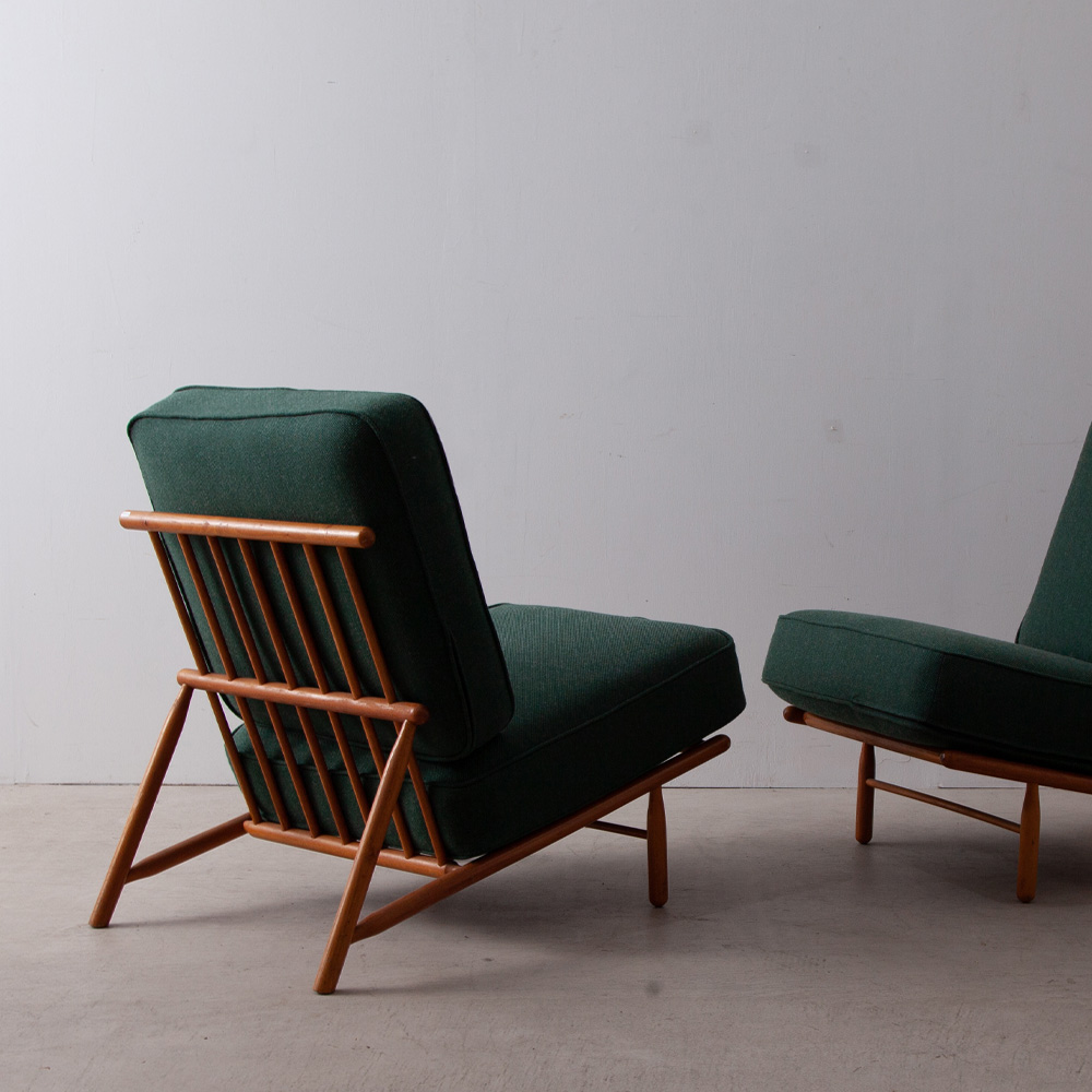 "Easy Chair ""Interiör"" by Alf Svenson for DUX in Oak and Green"