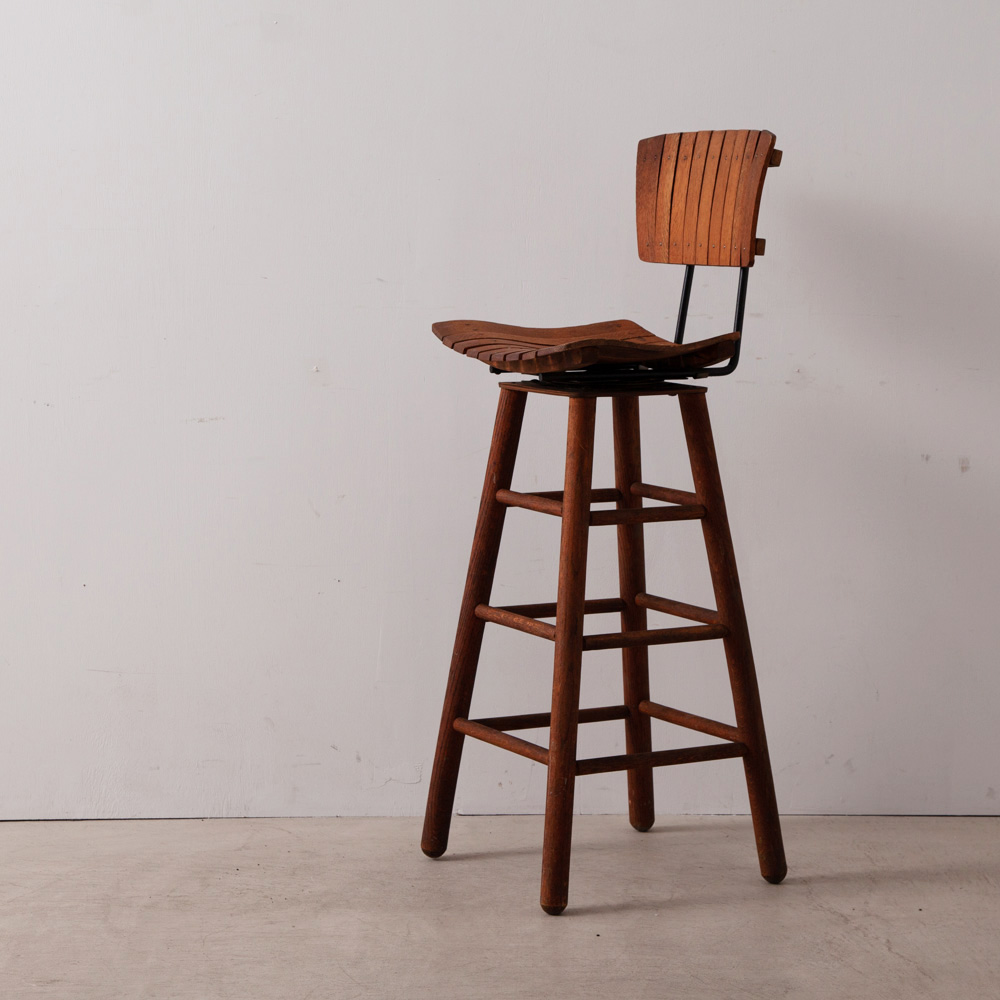 Hi Chair in Wood and Steel