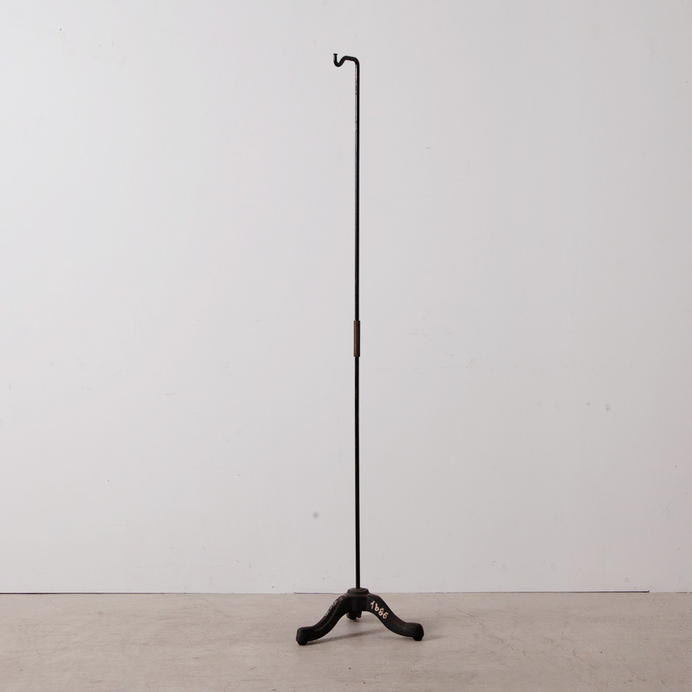 Antique Tripod Display Stand in Iron and Black