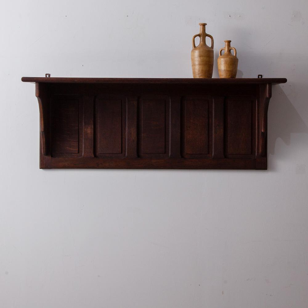 Antique Wall Shelf in Oak