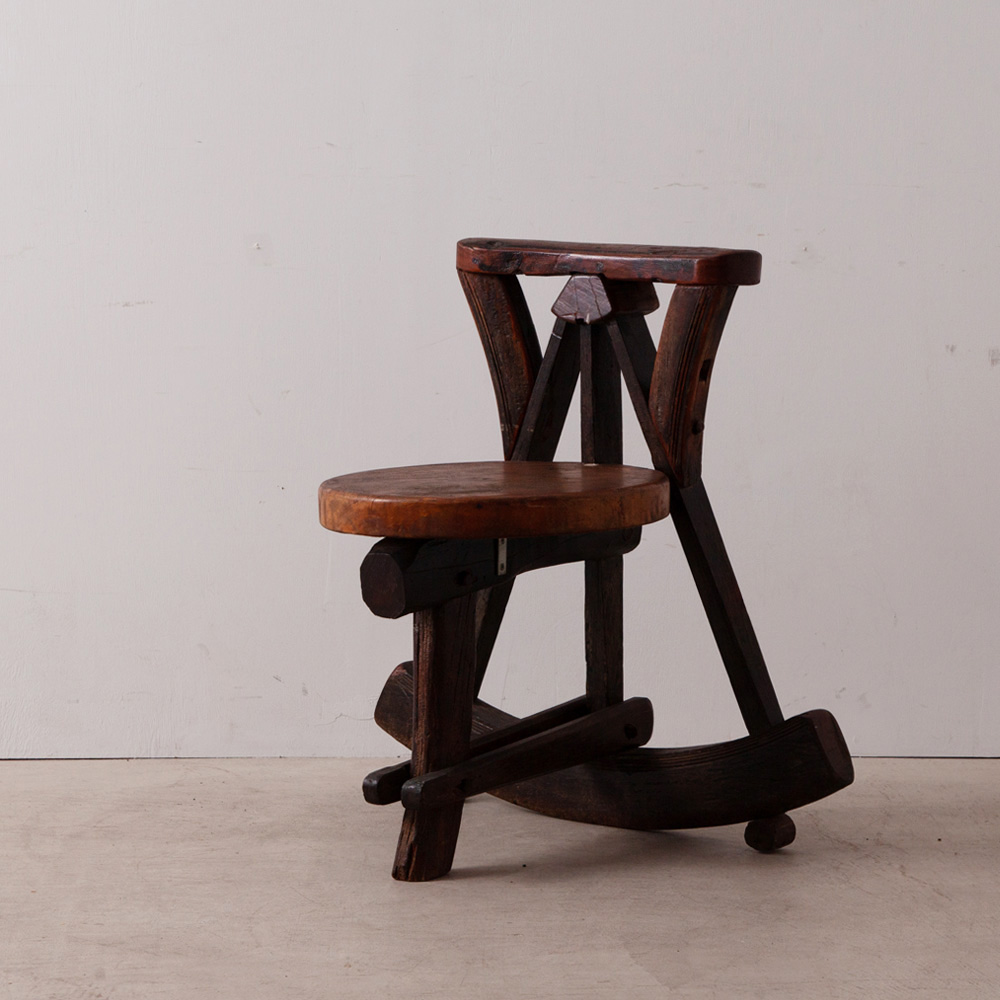 Occasional Log Chair in Wood