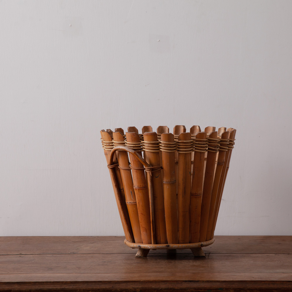 Flower Pot in Bamboo and Rattan