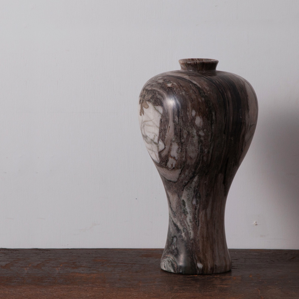 Flower Vase in Marble and Gray