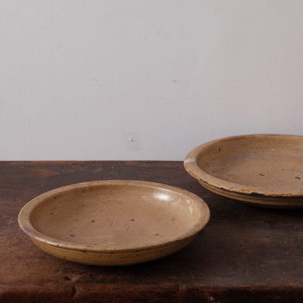 Old Kiseto Pottery Stone Plate #1