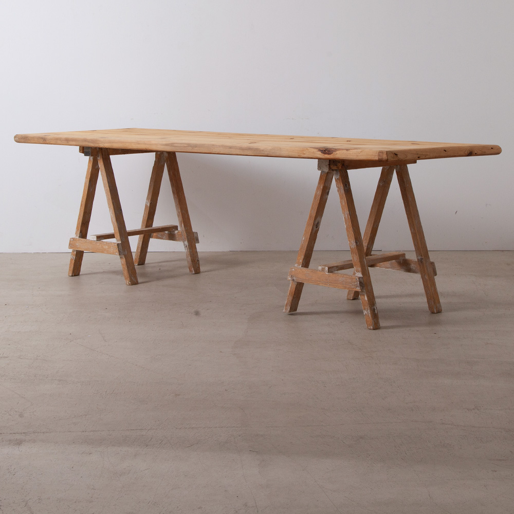 Antique Long Work Table in Pine