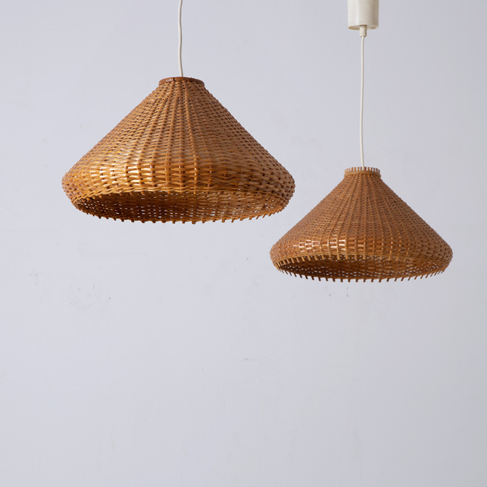 Vintage Pendant Light #02 in Rattan