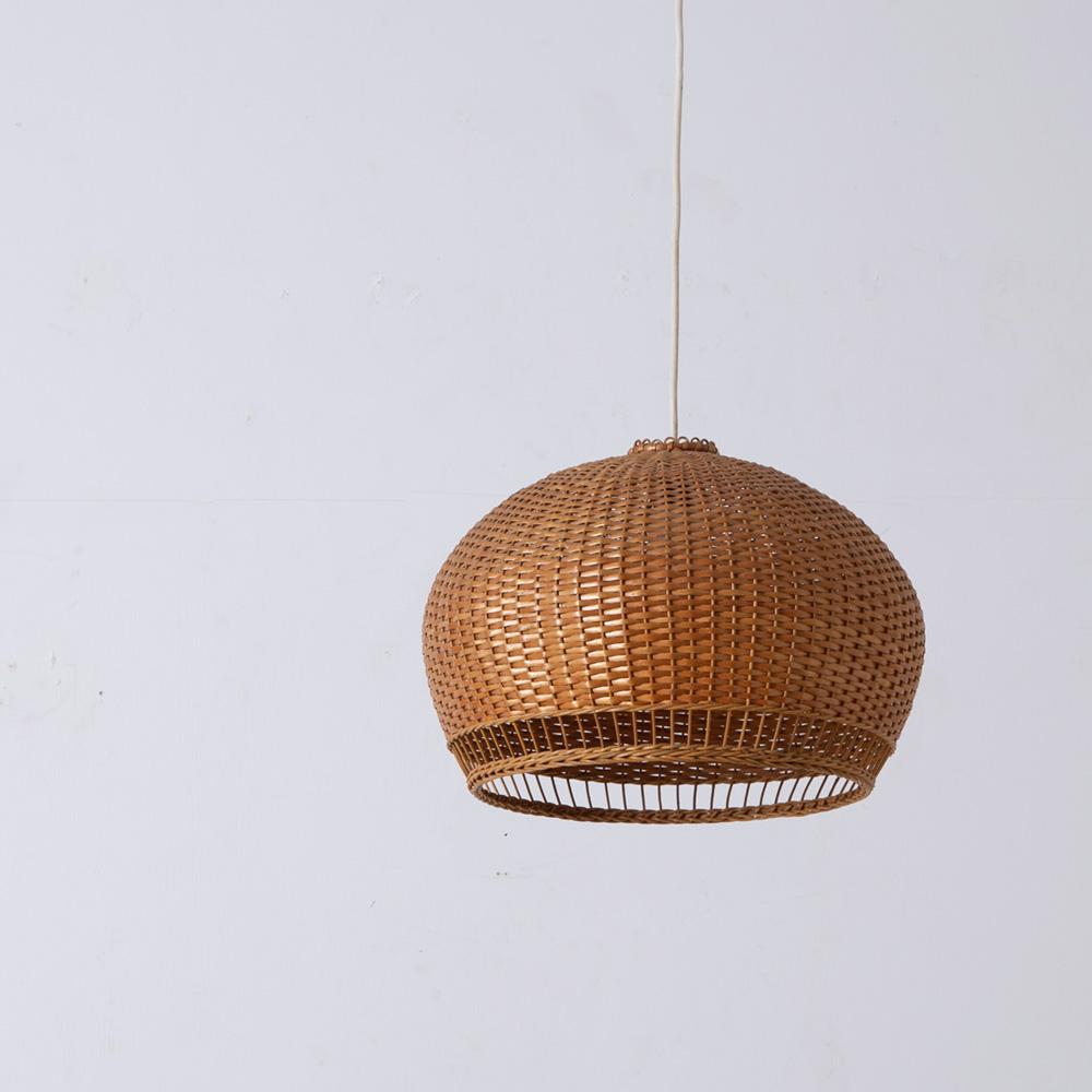 Vintage Pendant Light #01 in Rattan