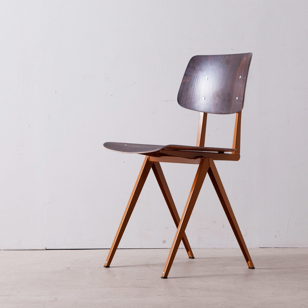 Model S.16 Chair in Ebony and Ocher Brown for GALVANITAS