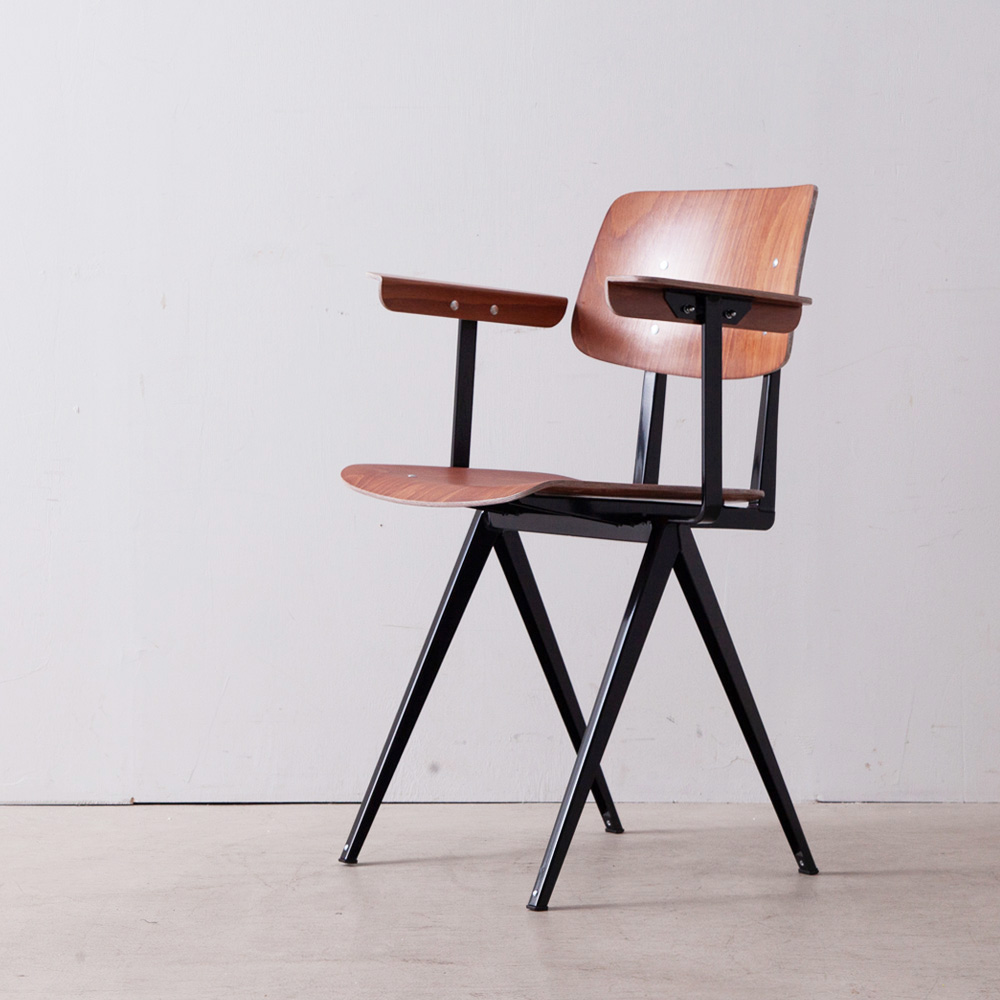 Model S.16 Arm Chair in Brown and Black for GALVANITAS