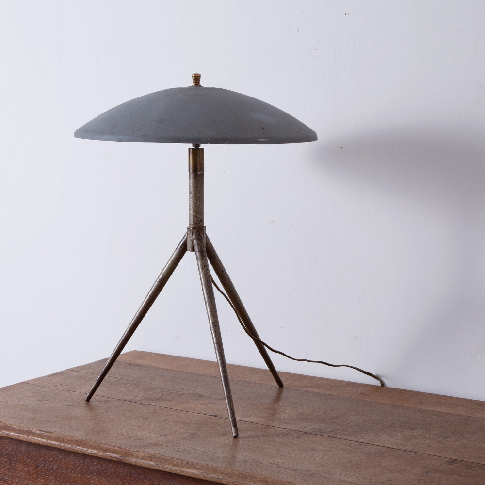 Vintage Tripod Stand Light in Gray