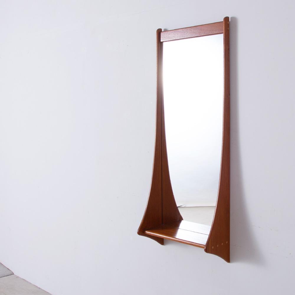 Scandinavian Wall Mirror in Wood by Aksel Kjersgaard