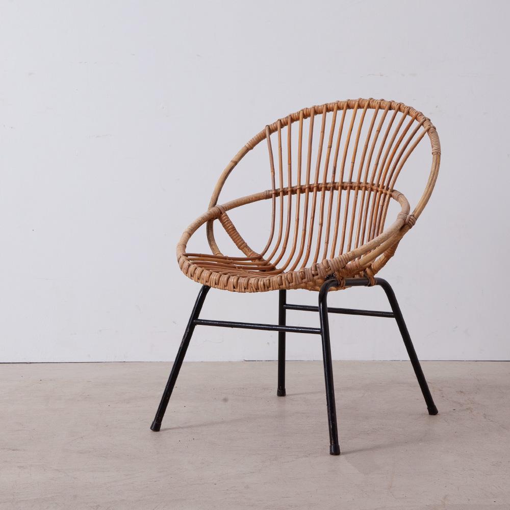 Vintage Rattan Chair by Dirk van Sliedregt for Rohé Noordwolde